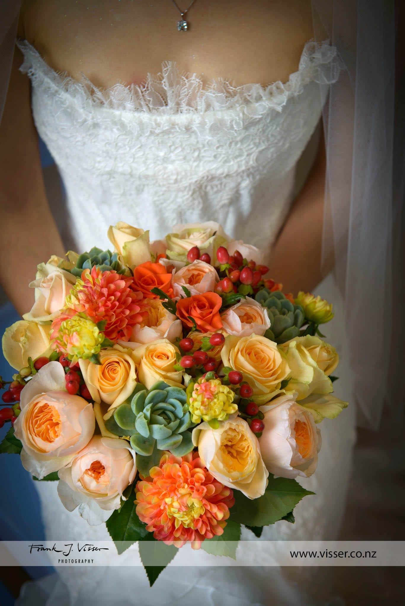 Warm bridal bouquet designed by Kim Chan Events