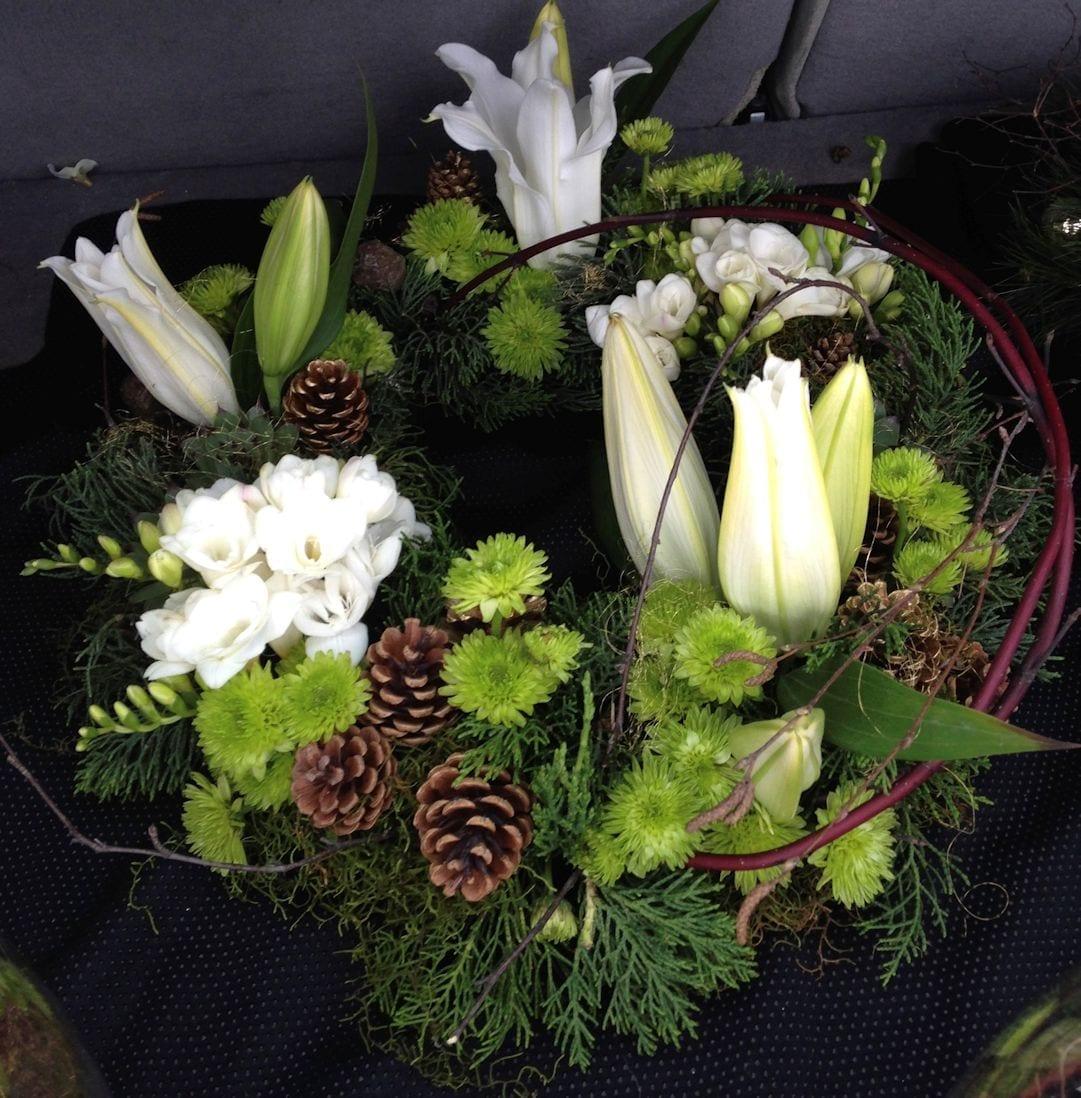 kim chan events | christmas wreath