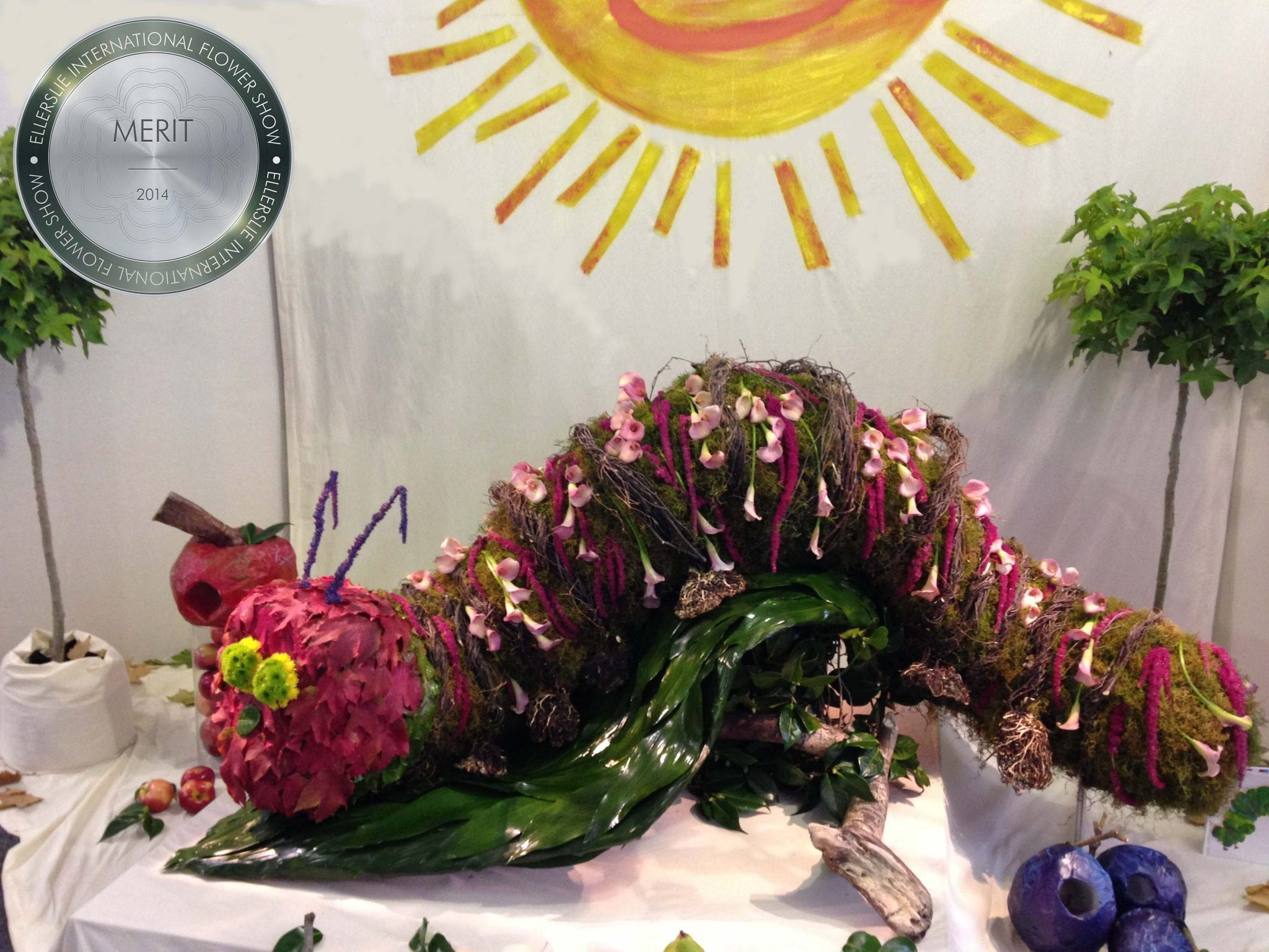 Kim Chan Events | the very hungry catepillar award winning display at the Ellerslie Flower Show