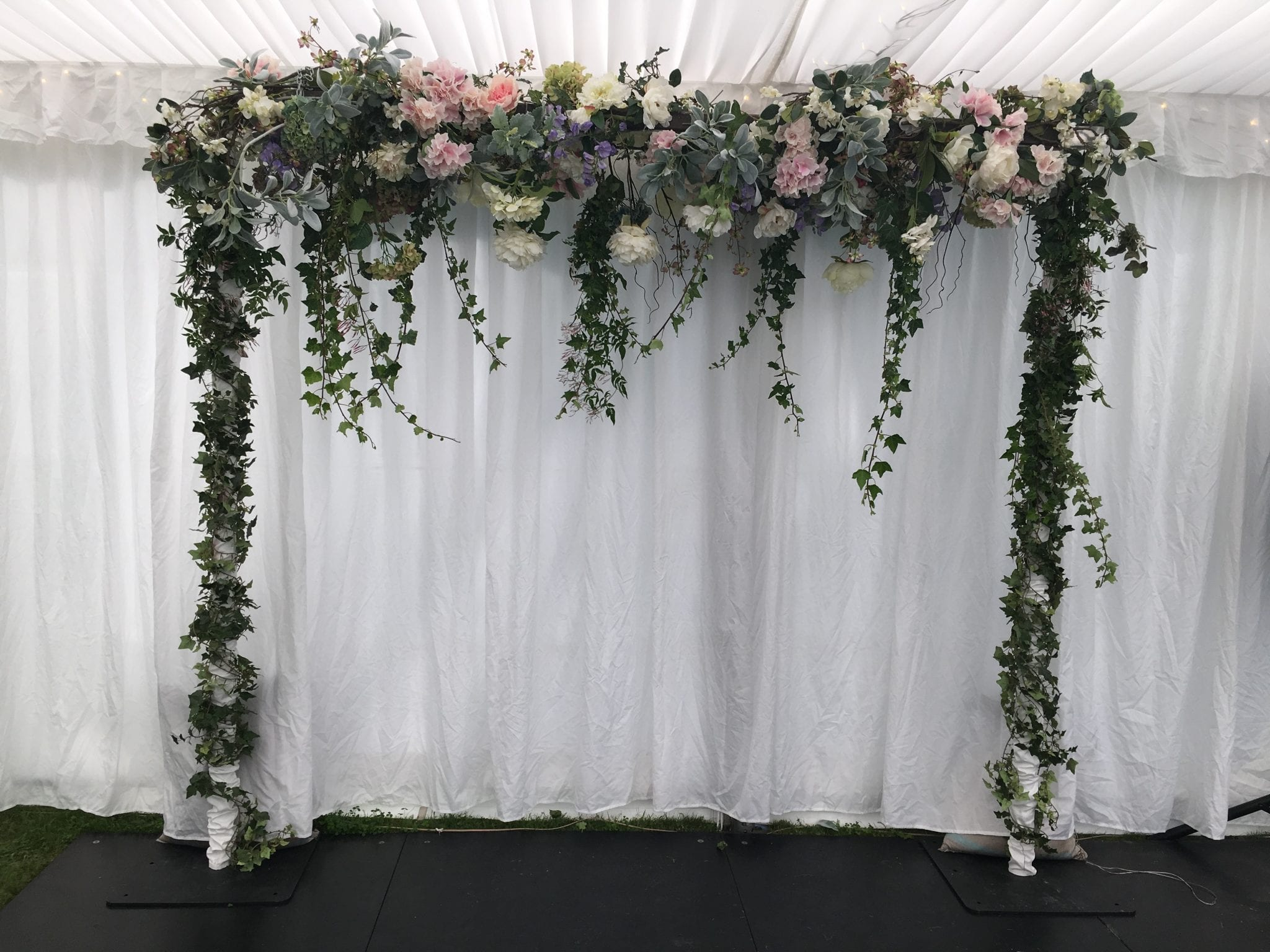 Blog christchurch event stylist florist kim chan events pastel florals ivy archway mightylinksfo