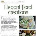 Elegant Floral Creations as Featured in Metropol Magazine