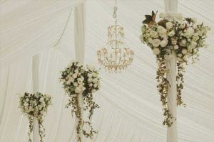 Wedding Feature Pieces,elegant pole flowers for marquee