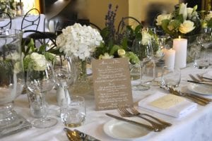 Wedding reception designed and set up by Kim Chan Events