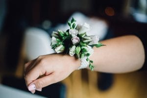 Wrist bouquet by Kim Chan Events