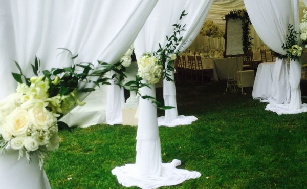 Wedding marquee setup by Kim Chan Events