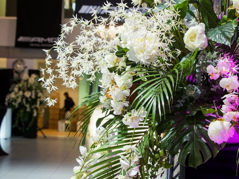 Floral arrangements by Kim Chan Events