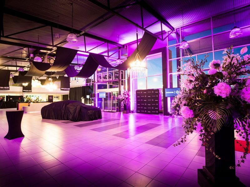 AMG Showroom Launch with Florals and Styling by Kim Chan Events