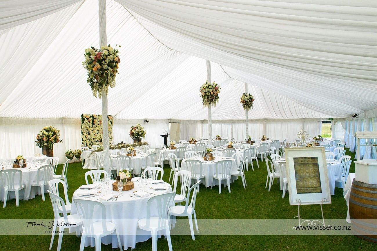 Marquee wedding decor for wedding reception