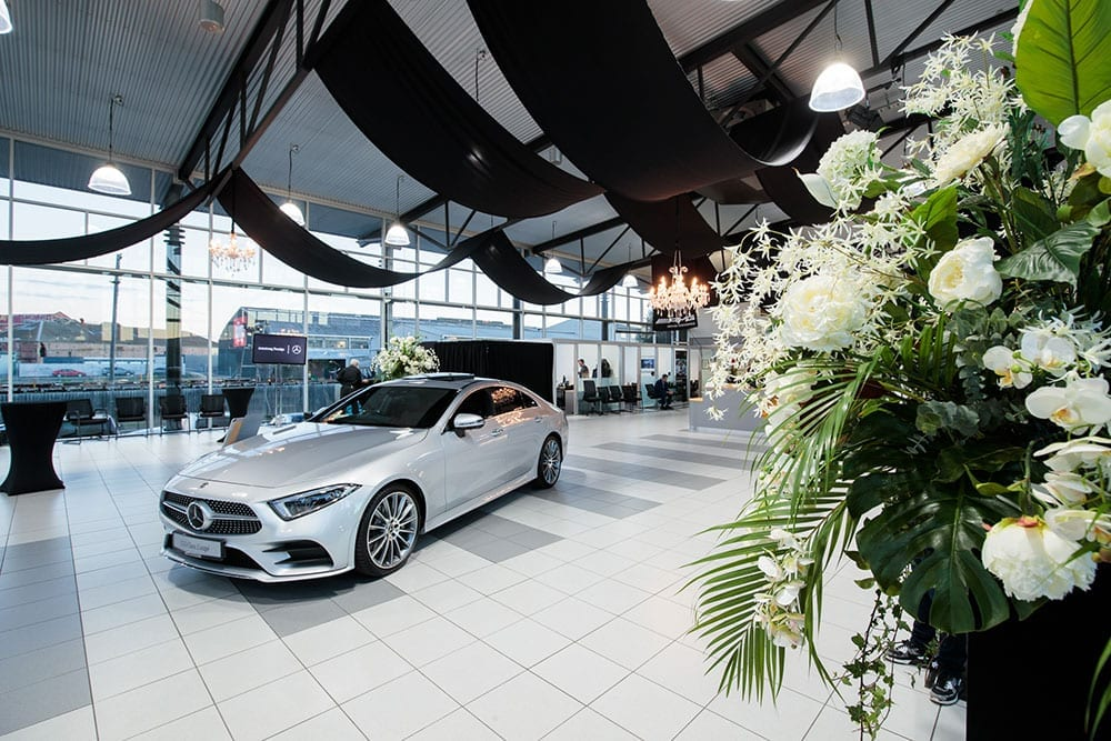 AMG Showroom Launch designed, styled and themed by Kim Chan Events