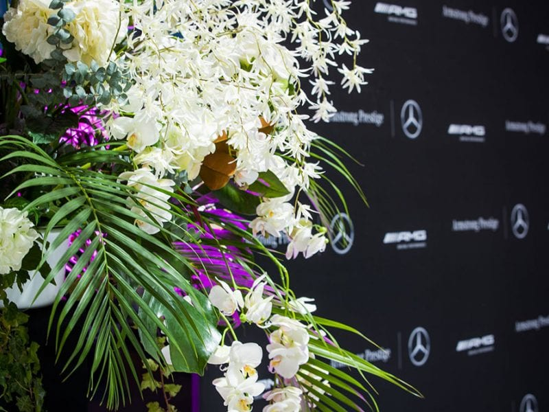 AMG Showroom Launch florals by Kim Chan Events