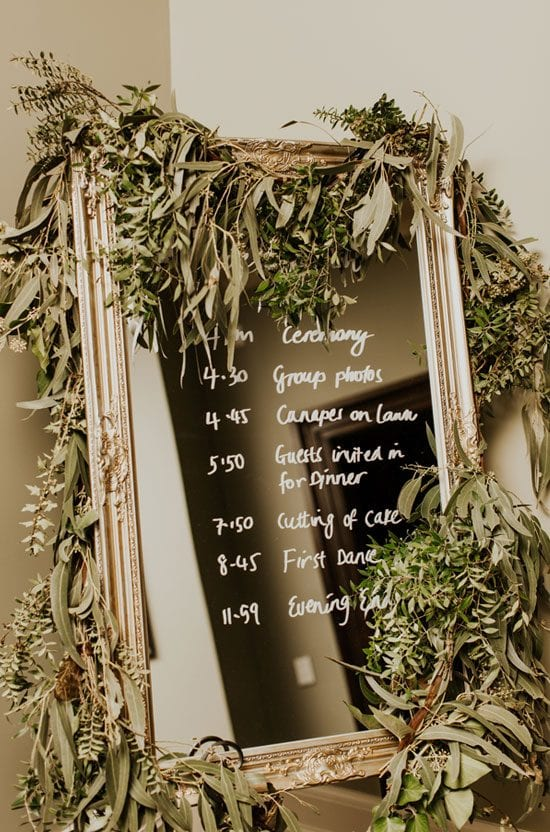 Autumn themed wedding decorations