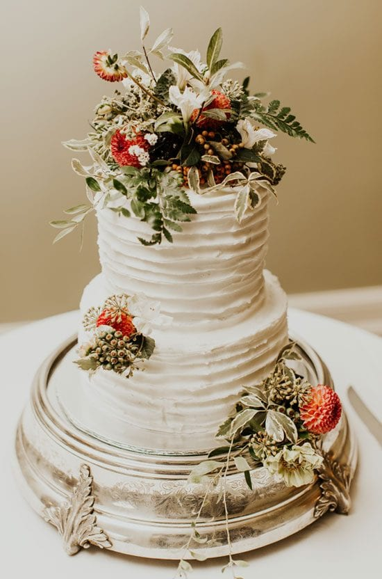 Autumn themed wedding cake decorations by Kim Chan Events