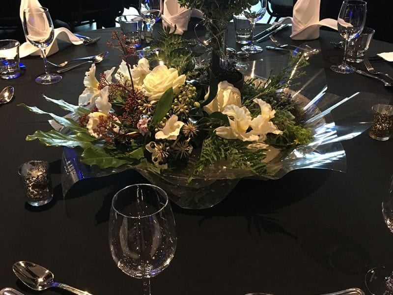 Table decorations by Kim Chan Events