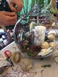 Christmas Table Decorations for the Kim Chan Events Christmas Popup Store