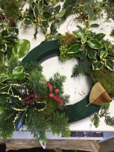 Beautiful Christmas Wreath for the Kim Chan Events Christmas Popup Store