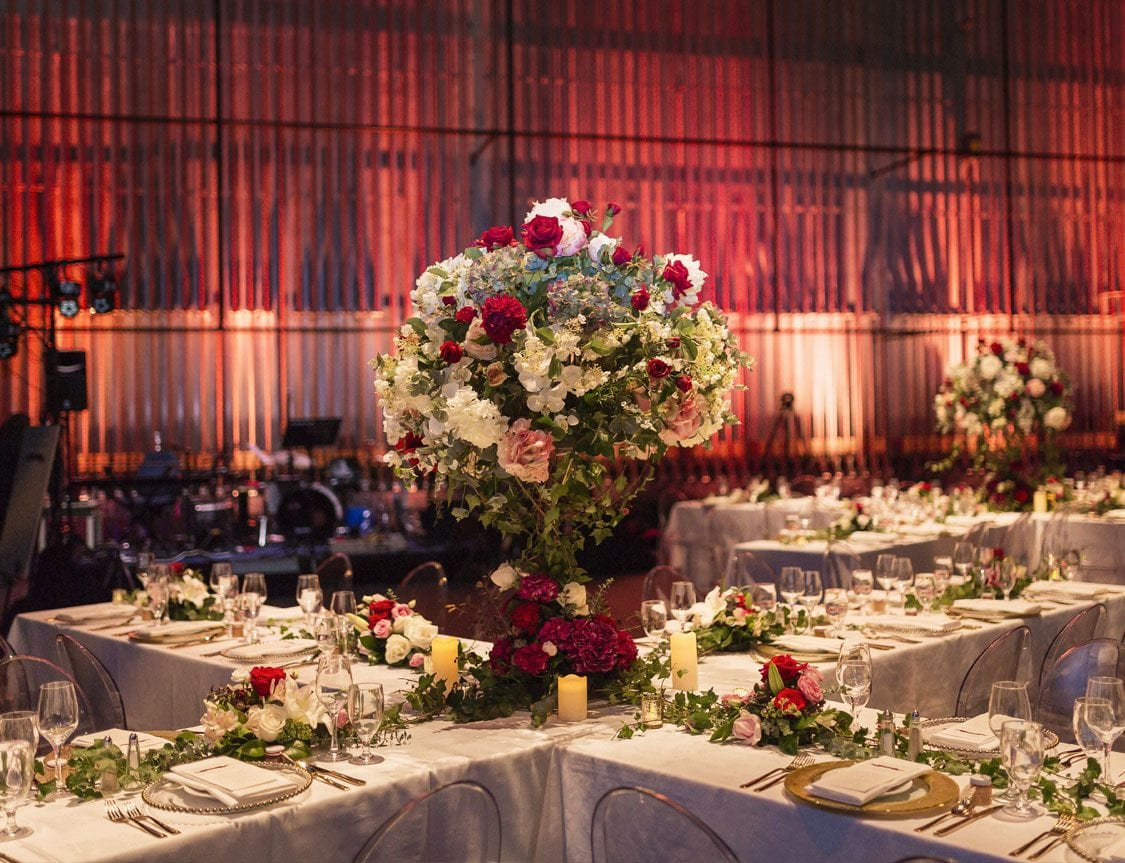 Large wedding feature piece by Kim Chan Events