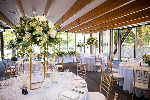 Christchurch Town Hall Reopening - Avon Room wedding styling by Kim Chan Events