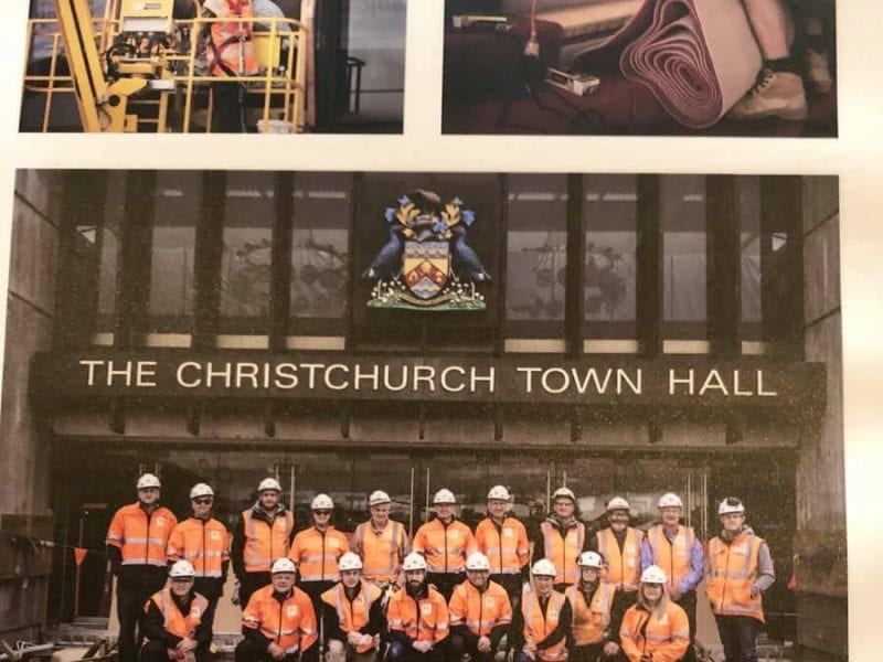 Heritage photo of the Christchurch Town Hall