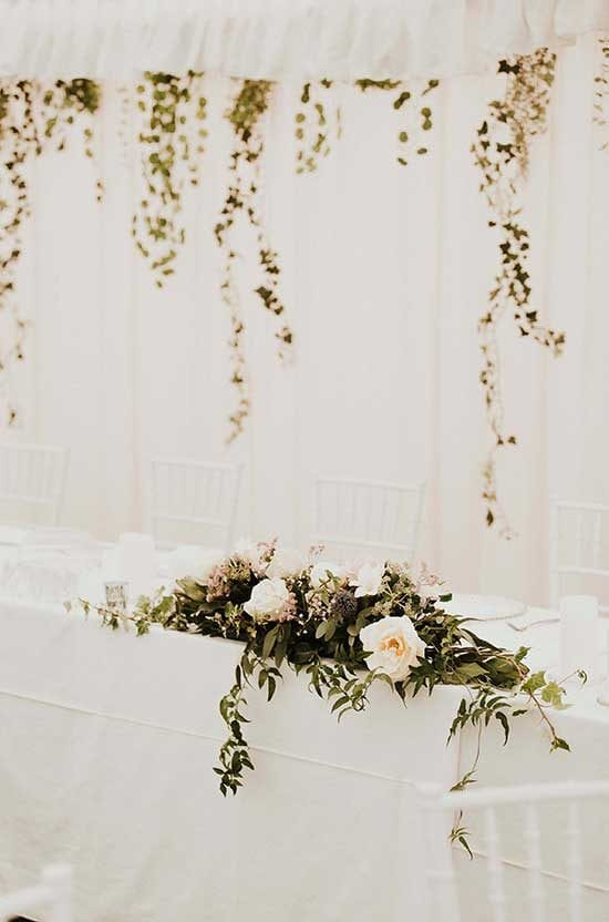 Head wedding table styling