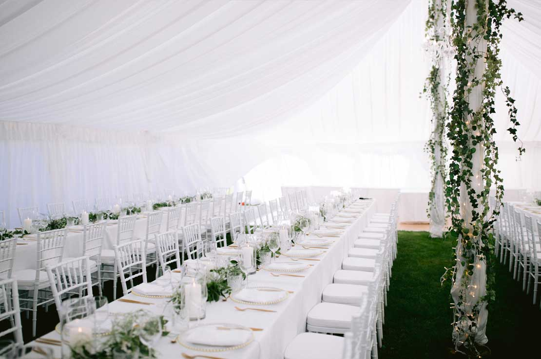 Marquee styling and florals by Kim Chan Events