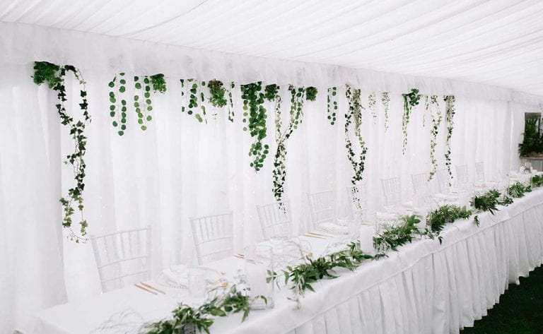 Delicate marquee styling for Gabby's wedding