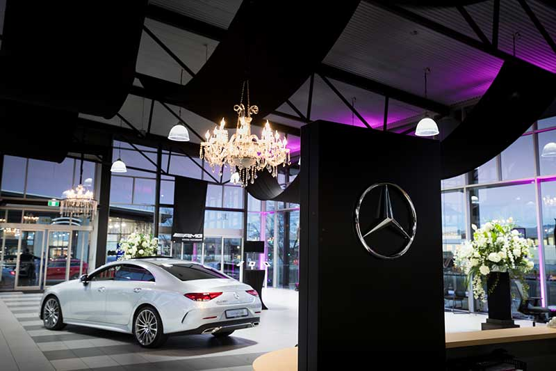 AMG Showroom Launch - Corporate event design by Kim Chan Events