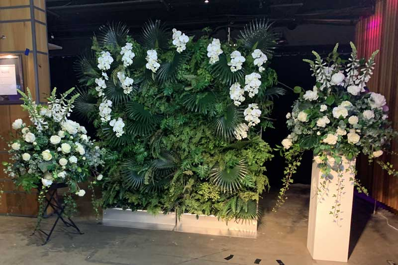Flower wall and feature pieces