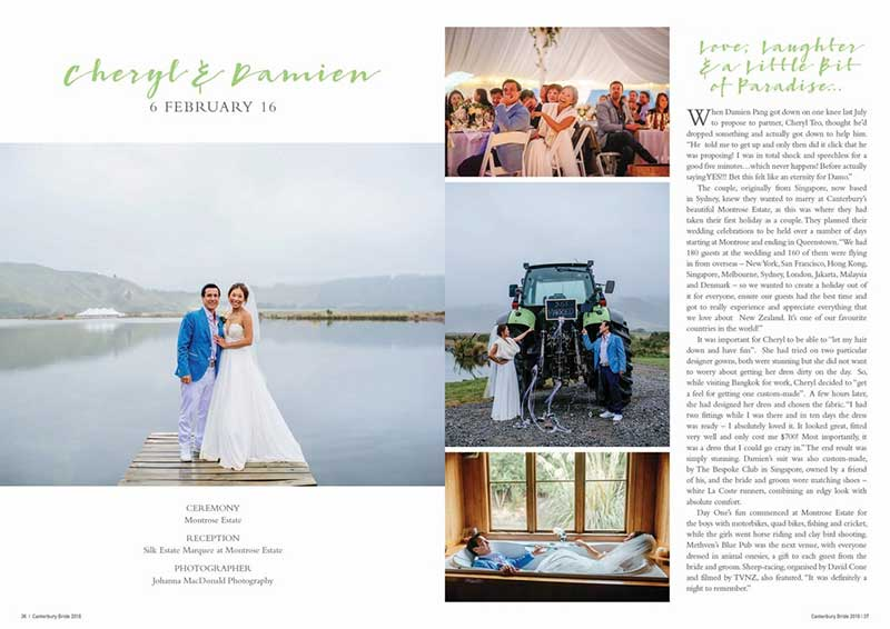 Chery and Damien as featured in Canterbury Bride magazine