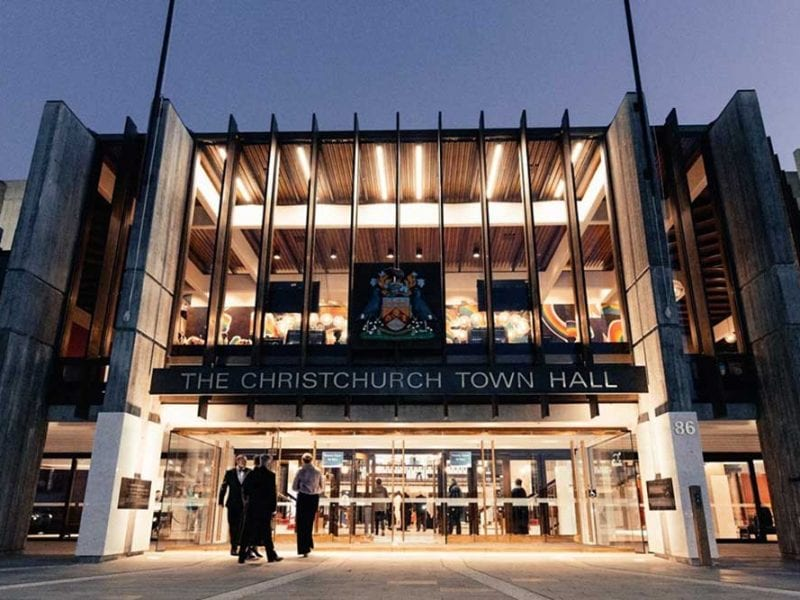 The Christchurch Town Hall event centre