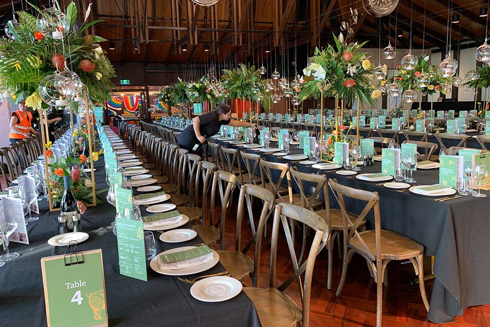 Maia Feast fundraiser event styling