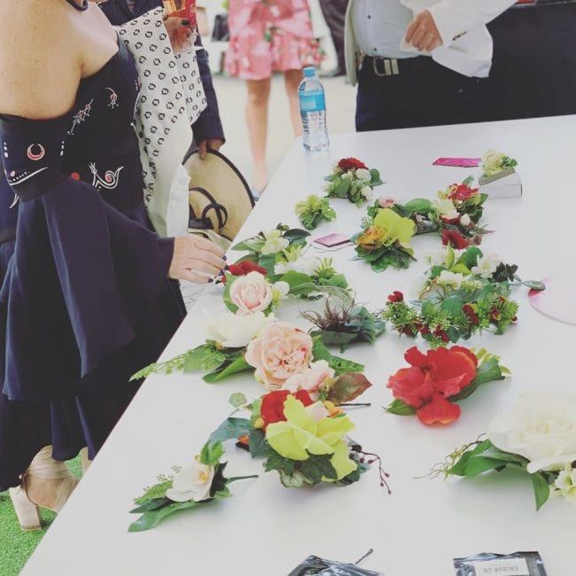 Buttonholes, hat flowers ...