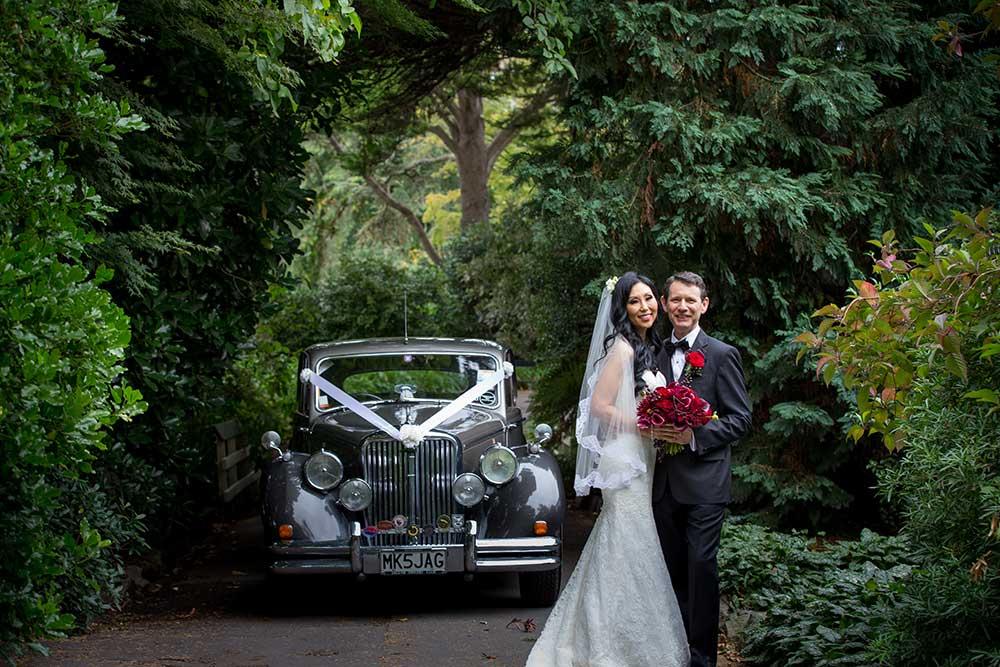 Bride and groom on their NZ destination wedding