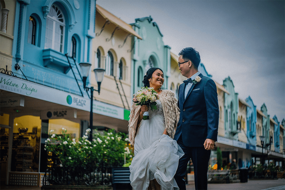 Destination wedding in Christchurch New Zealand