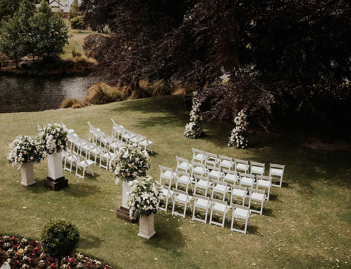 Ceremony styling and setup