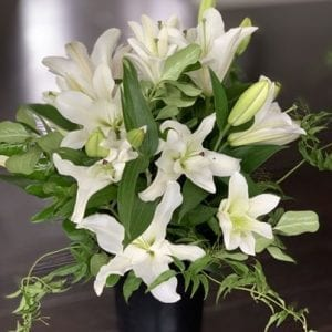 Lily bloom bouquet