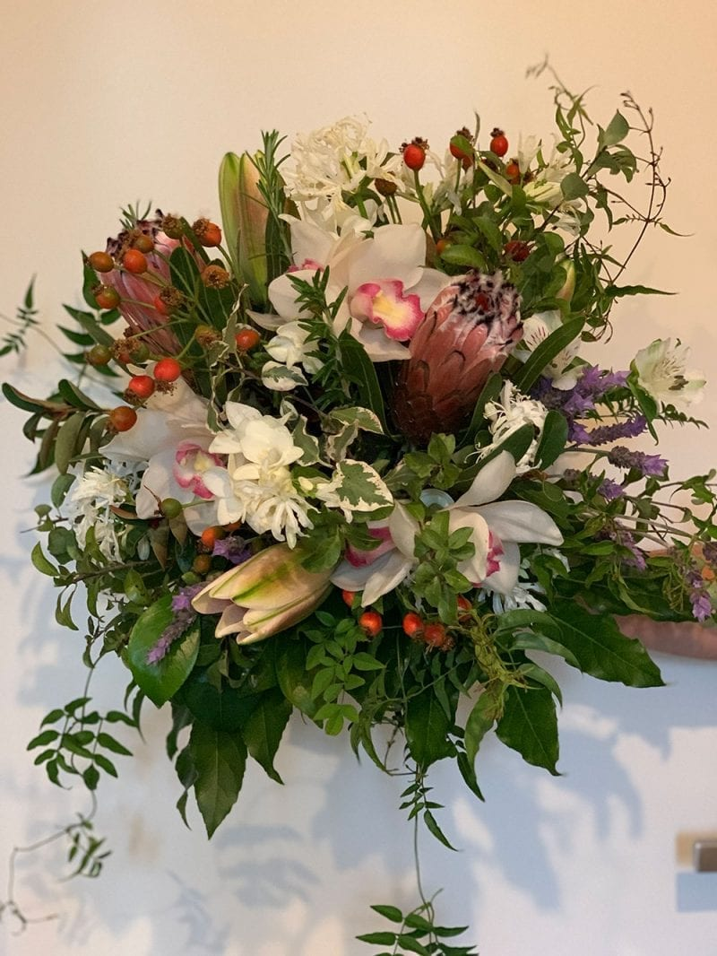 Naked sustainable bouquet from Kim Chan Flowers
