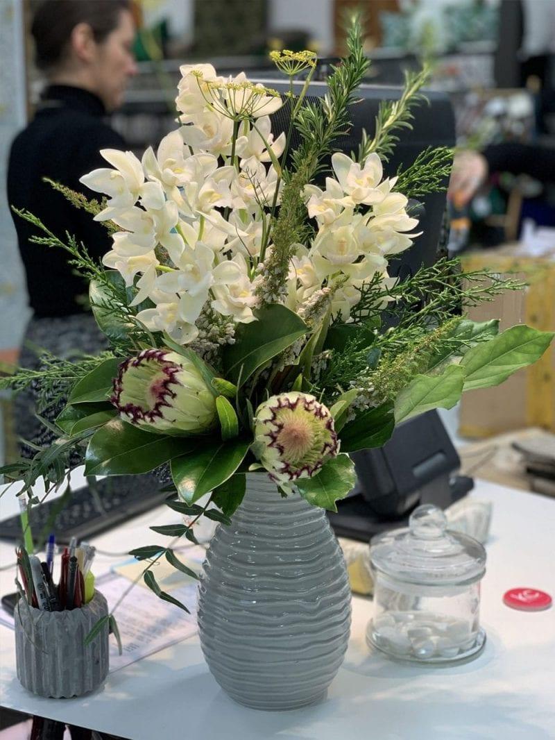 Beautiful weekly office flowers