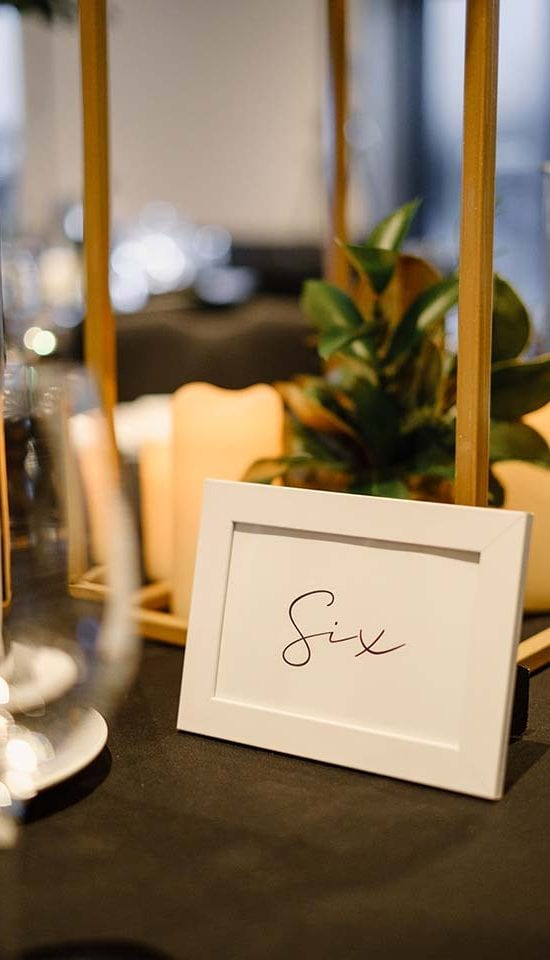 Table decorations for Foodstuffs event