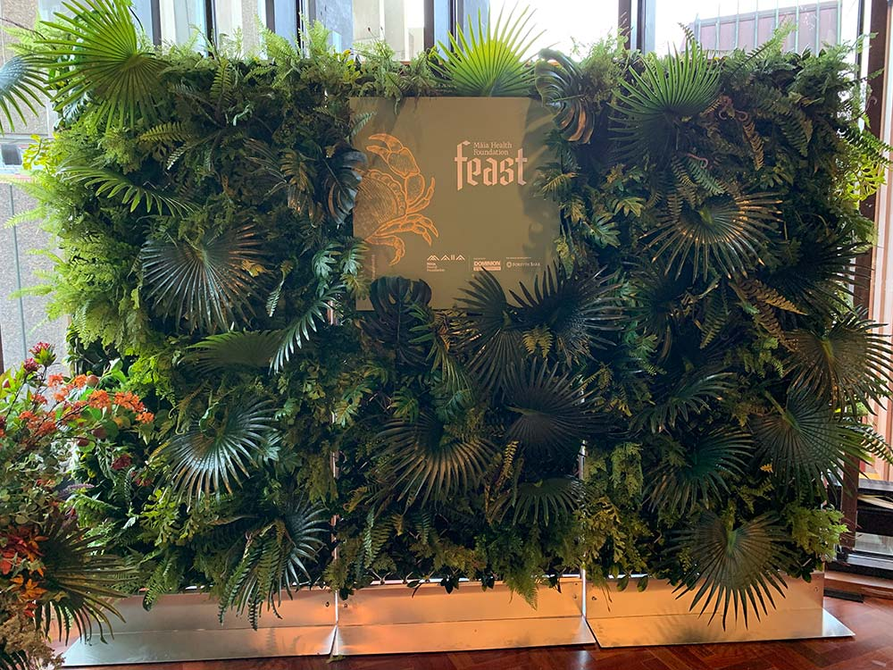Maia Feast green wall