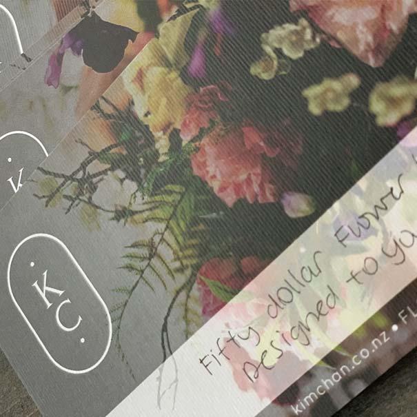 Beautiful handwritten printed gift vouchers