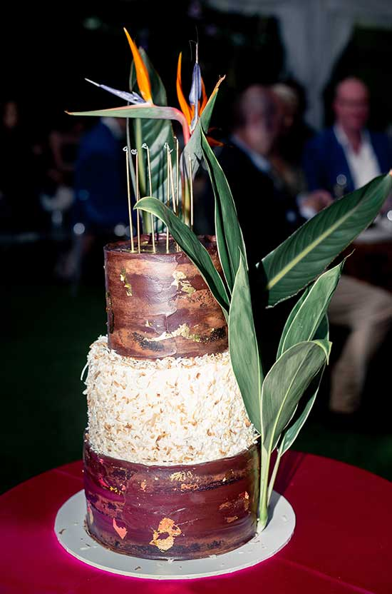 Birthday cake with tropical styling