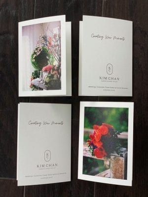Limited edition unique gift cards
