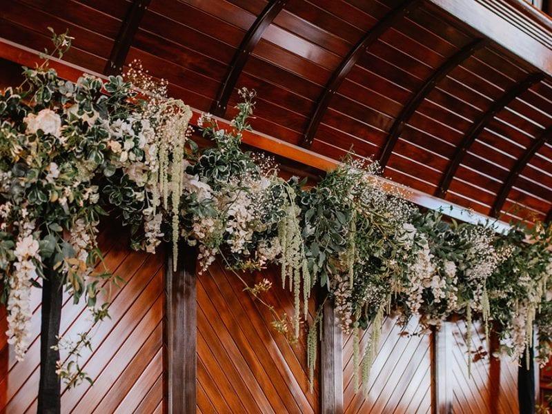 Elegant floral arrangements for church wedding