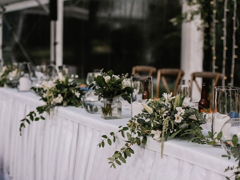 Marquee wedding styling by Kim Chan Events